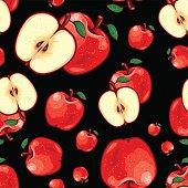 Seamless Fruit Pattern - Apple