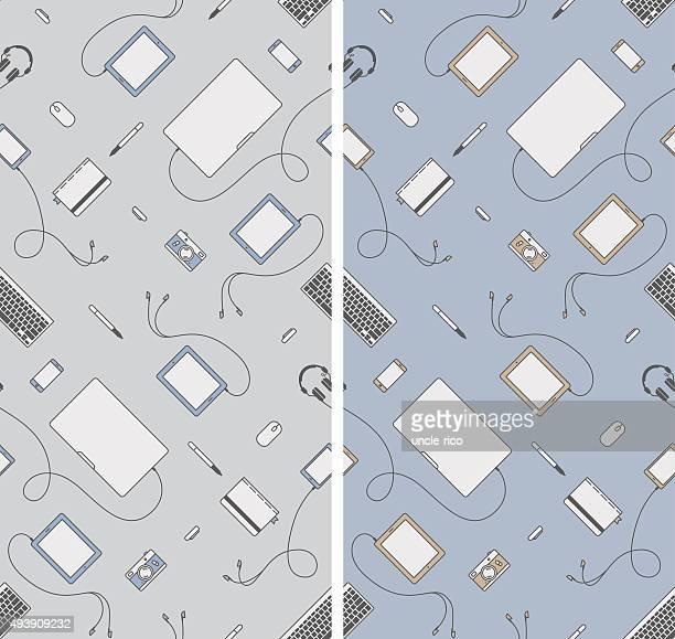 seamless gadgets pattern