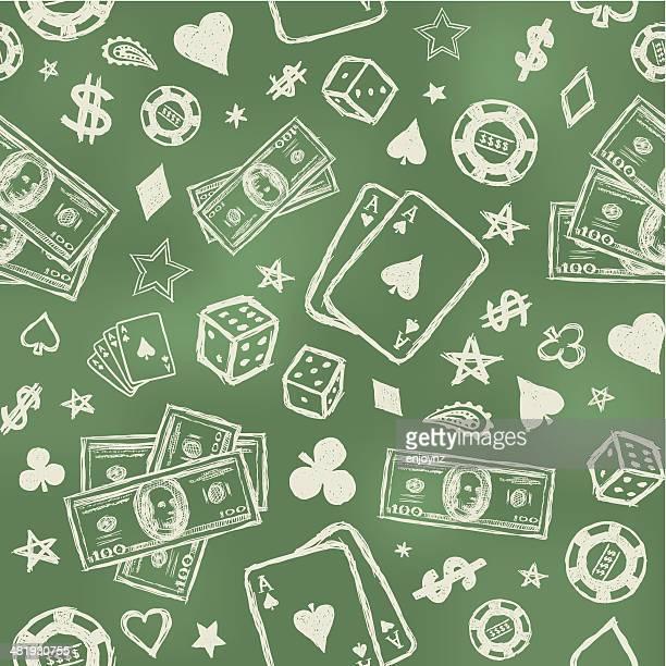 Seamless gambling background