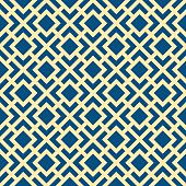 Seamless Geometric Art Deco Lattice Vector Pattern