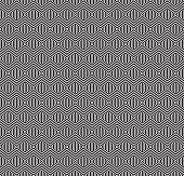 Seamless geometric concentric hexagon honeycomb pattern.