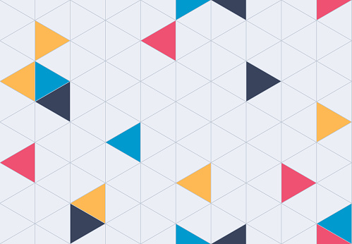 Seamless Geometric Grid Pattern Background - gettyimageskorea