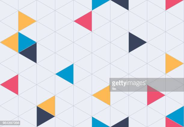 illustrazioni stock, clip art, cartoni animati e icone di tendenza di seamless geometric grid pattern background - forma geometrica