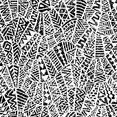 Seamless geometric pattern. Grunge texture.