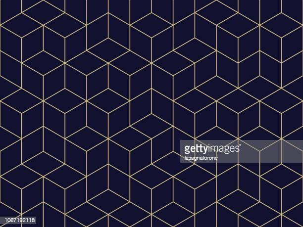 seamless geometric pattern - square stock illustrations