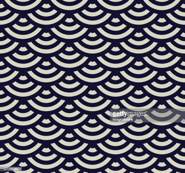 seamless geometric pattern - japan stock illustrations
