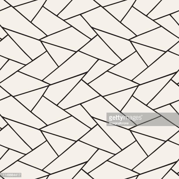 seamless geometric pattern - rhombus stock illustrations