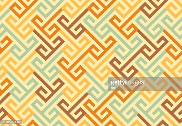 ilustraciones, imágenes clip art, dibujos animados e iconos de stock de patrón geométrico sin costuras - cultura indígena