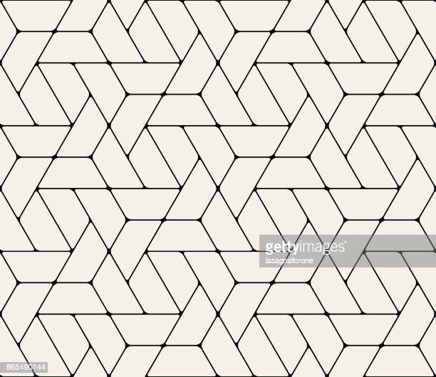 seamless geometric pattern - triangle shape stock illustrations