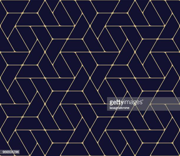 seamless geometric pattern - single line stock illustrations
