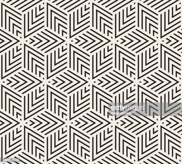 seamless geometric pattern - black and white stock illustrations