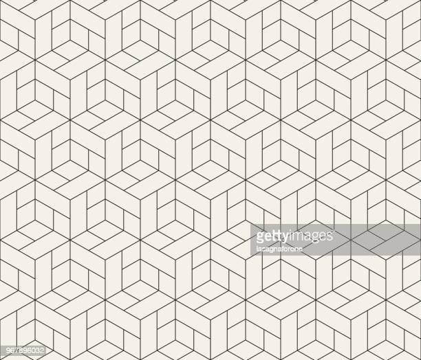 illustrazioni stock, clip art, cartoni animati e icone di tendenza di seamless geometric pattern - motivo ornamentale