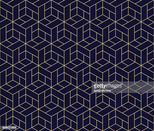 ilustraciones, imágenes clip art, dibujos animados e iconos de stock de patrón geométrico sin fisuras  - azul marino