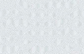 Seamless geometric pattern with hexagons and lines. Irregular structure for fabric print. Monochrome abstract background