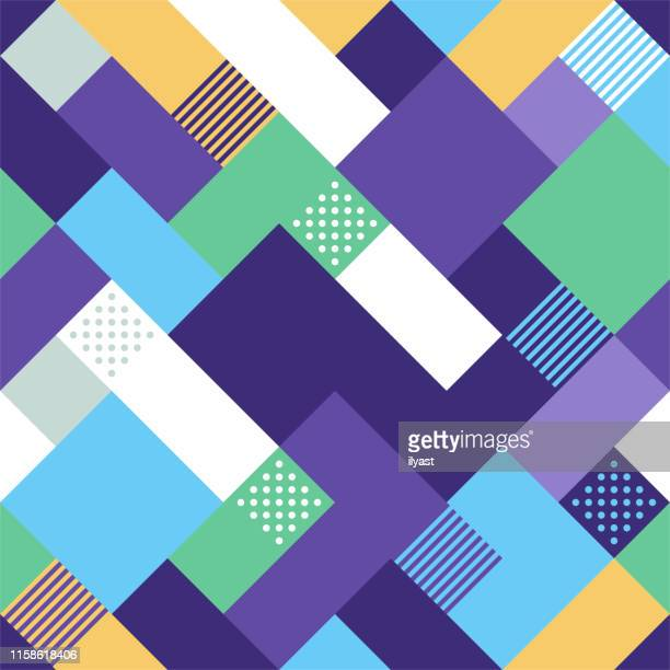 seamless geometric style vector pattern design - square stock illustrations