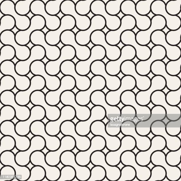 シームレスな幾何学的ベクトルパターン - 組み合わさる点のイラスト素材/クリップアート素材/マンガ素材/アイコン素材