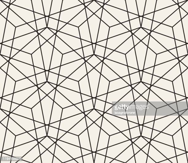 seamless geometric vector pattern - black and white stock illustrations