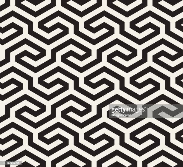 seamless geometric vector pattern - zigzag stock illustrations