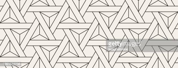nahtloses geometrisches vektormuster - geometriestunde stock-grafiken, -clipart, -cartoons und -symbole