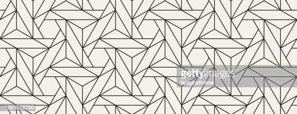 seamless geometric vector pattern - trapezoid stock illustrations