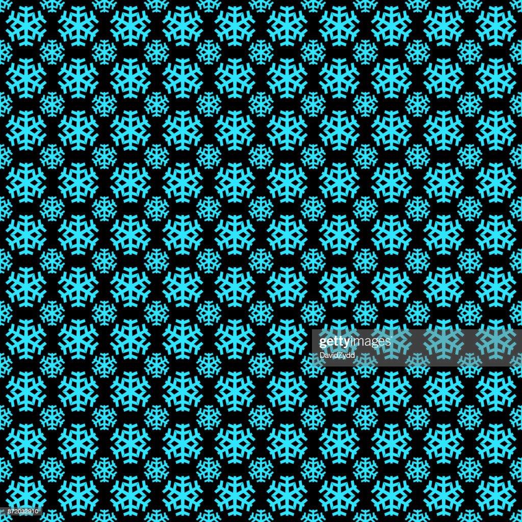 Nahtlose Geometrische Winter Schnee Muster Tapete Vektor Weihnachten ...