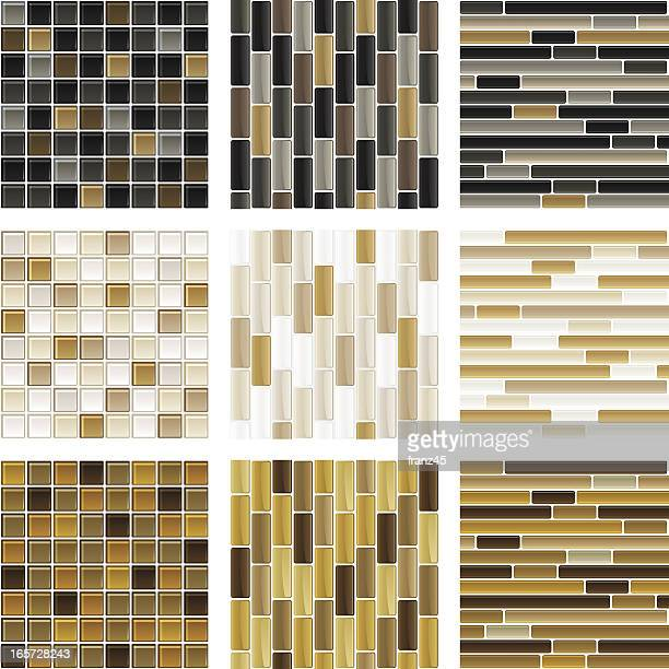 Seamless glass tile background