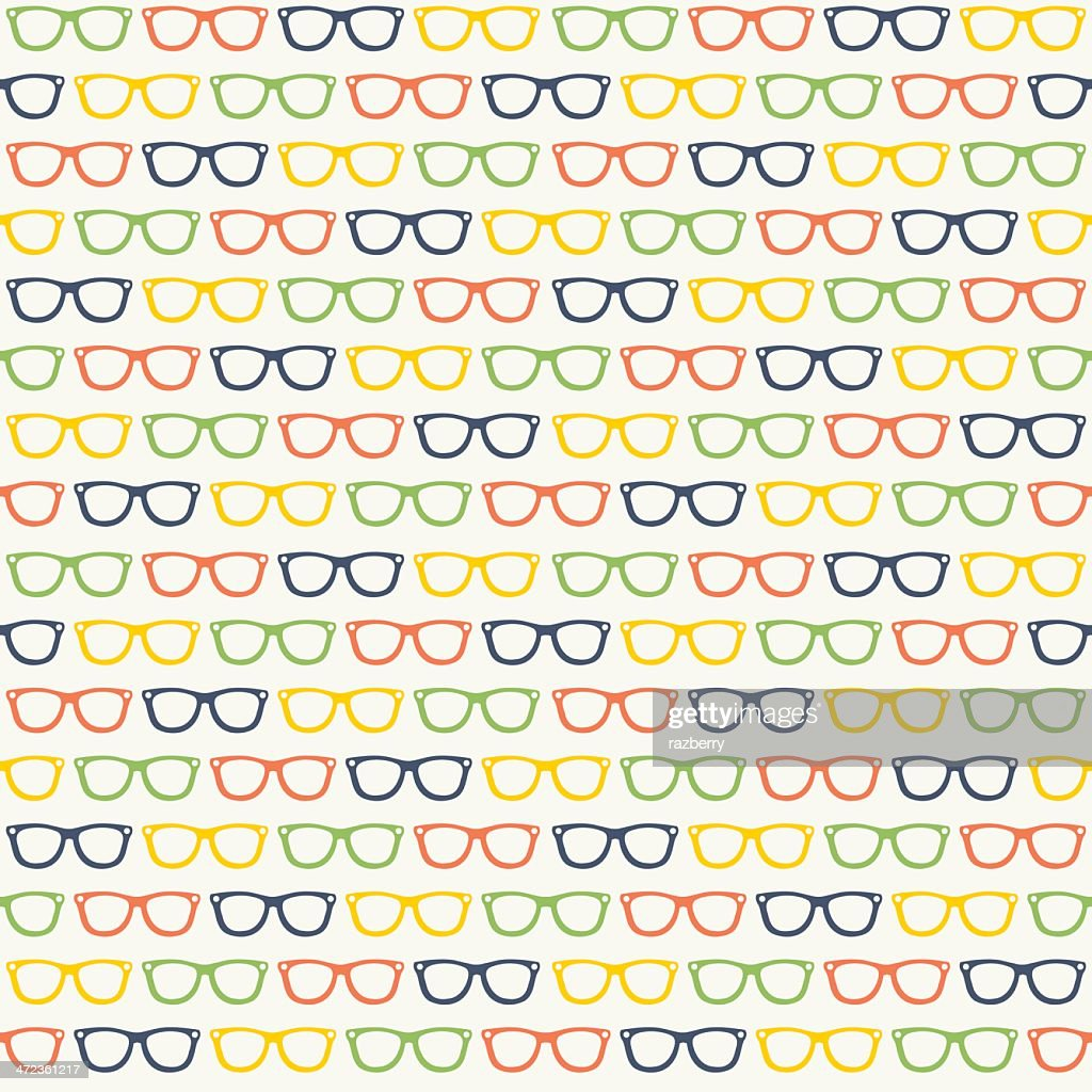 Seamless Glasses Pattern : stock illustration