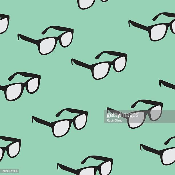 illustrazioni stock, clip art, cartoni animati e icone di tendenza di seamless pattern di occhiali - occhiali da vista