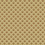 Seamless Gold Art Deco Vector Pattern