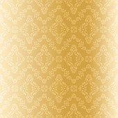 Seamless gold filigree damask pattern