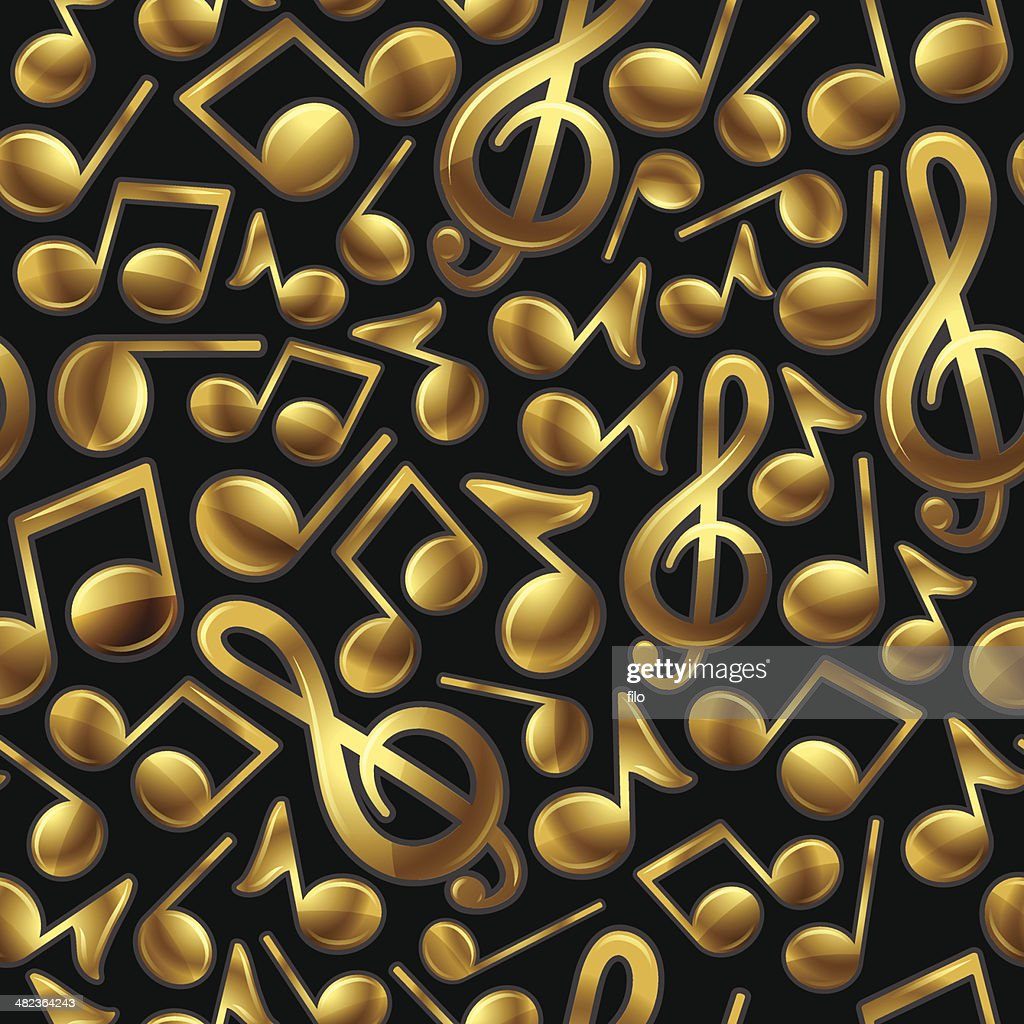 Seamless Gold Music Background