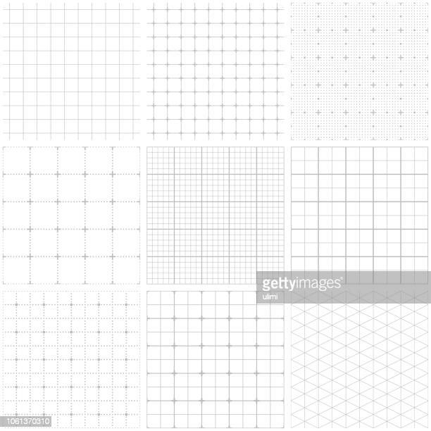 seamless graph paper - ruler stock illustrations
