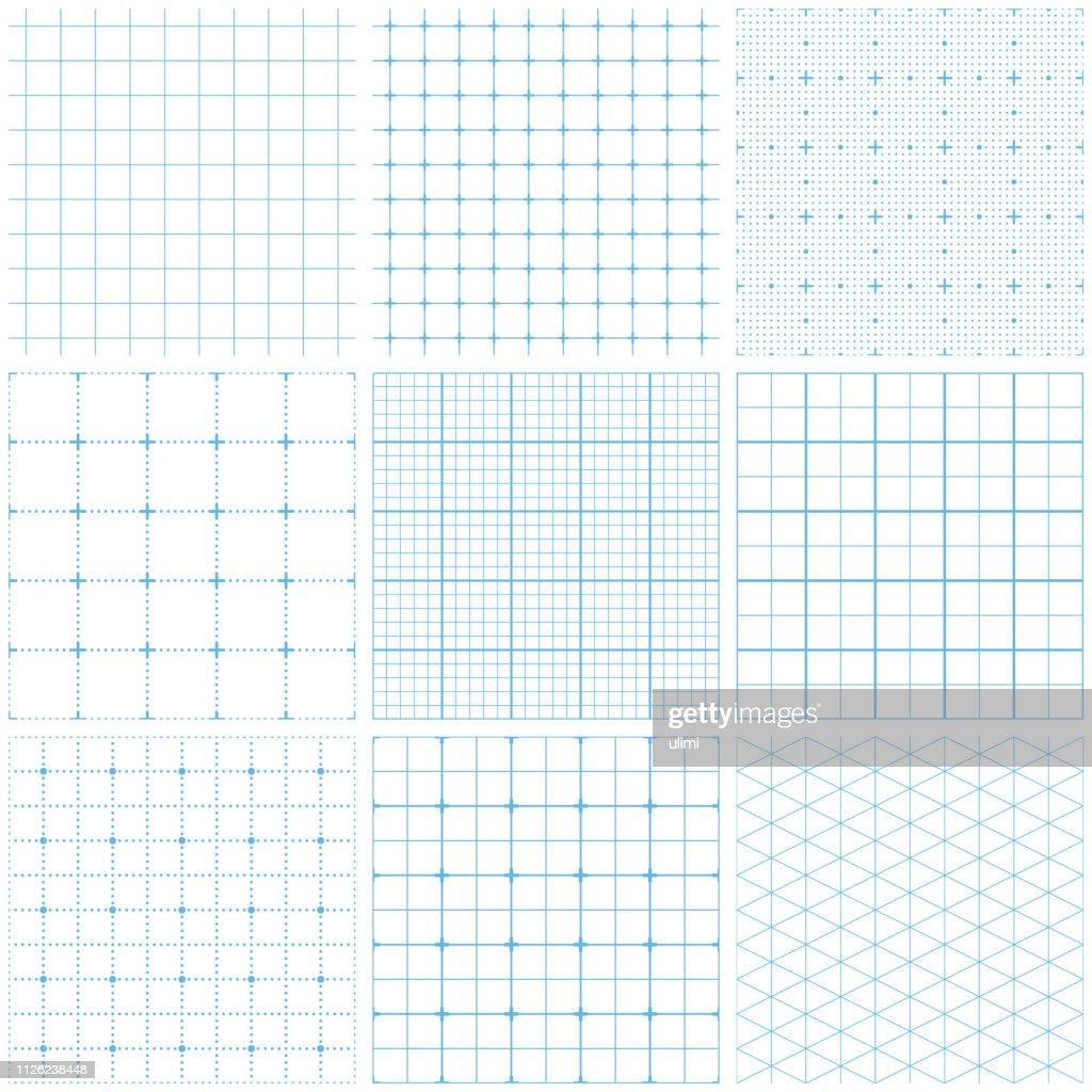 Seamless graph paper : stock illustration
