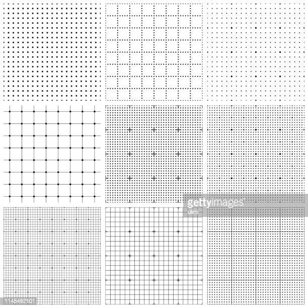 seamless graph paper - connect the dots stock illustrations