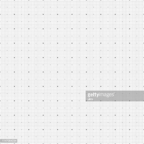 illustrazioni stock, clip art, cartoni animati e icone di tendenza di seamless graph paper - motivo a griglia