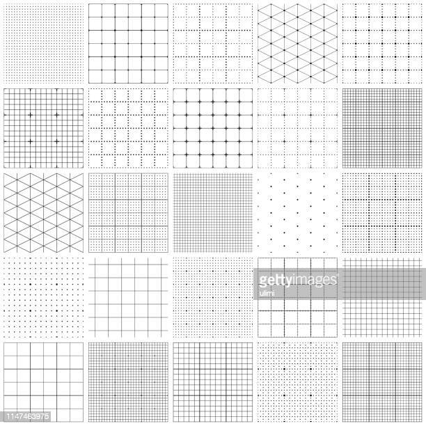 seamless graph paper - single line stock illustrations
