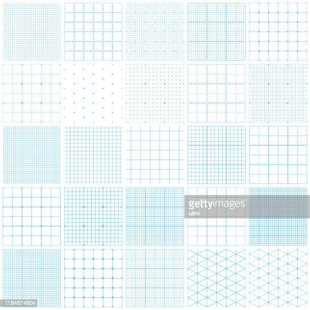 seamless graph paper - grid pattern stock illustrations