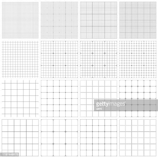 seamless graph paper - centimetre stock illustrations