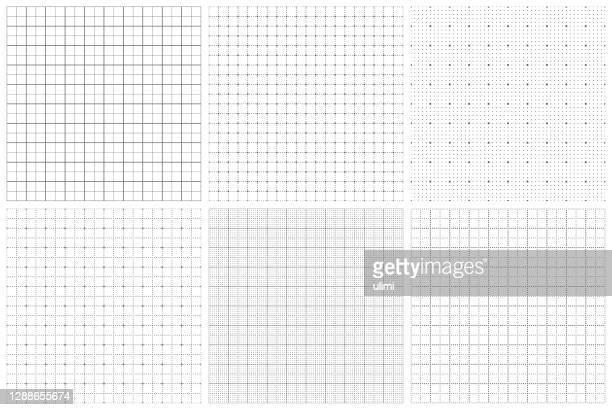 illustrazioni stock, clip art, cartoni animati e icone di tendenza di carta grafica senza soluzione di continuità - motivo a griglia
