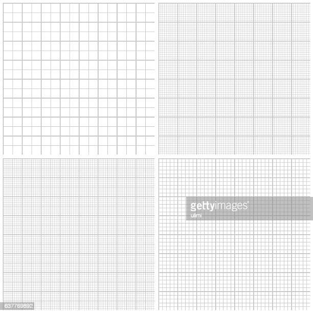 seamless graph paper - letrac stock illustrations