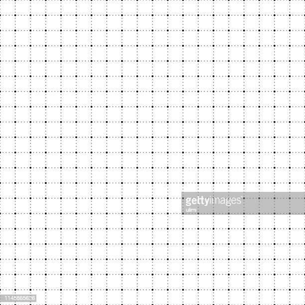 seamless graph paper with dots - letrac stock illustrations