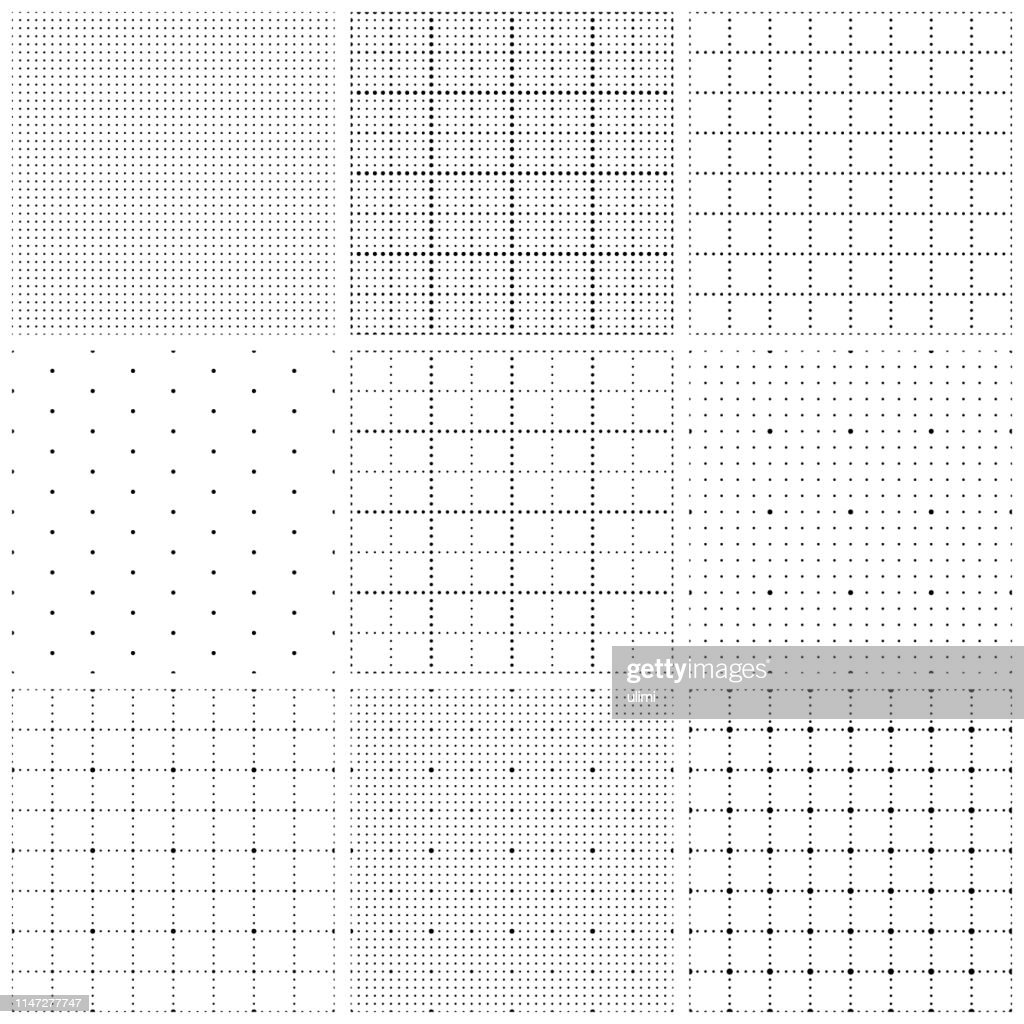 Seamless graph paper with dots : Stock Illustration