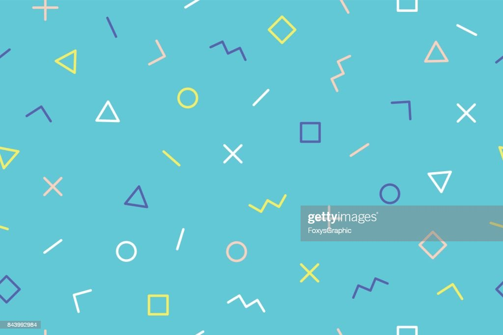 Seamless graphic pattern trendy style