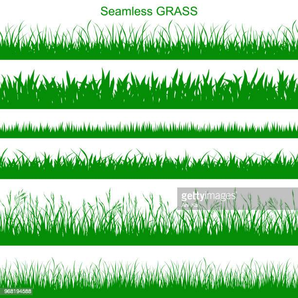 seamless grass - blade of grass stock illustrations