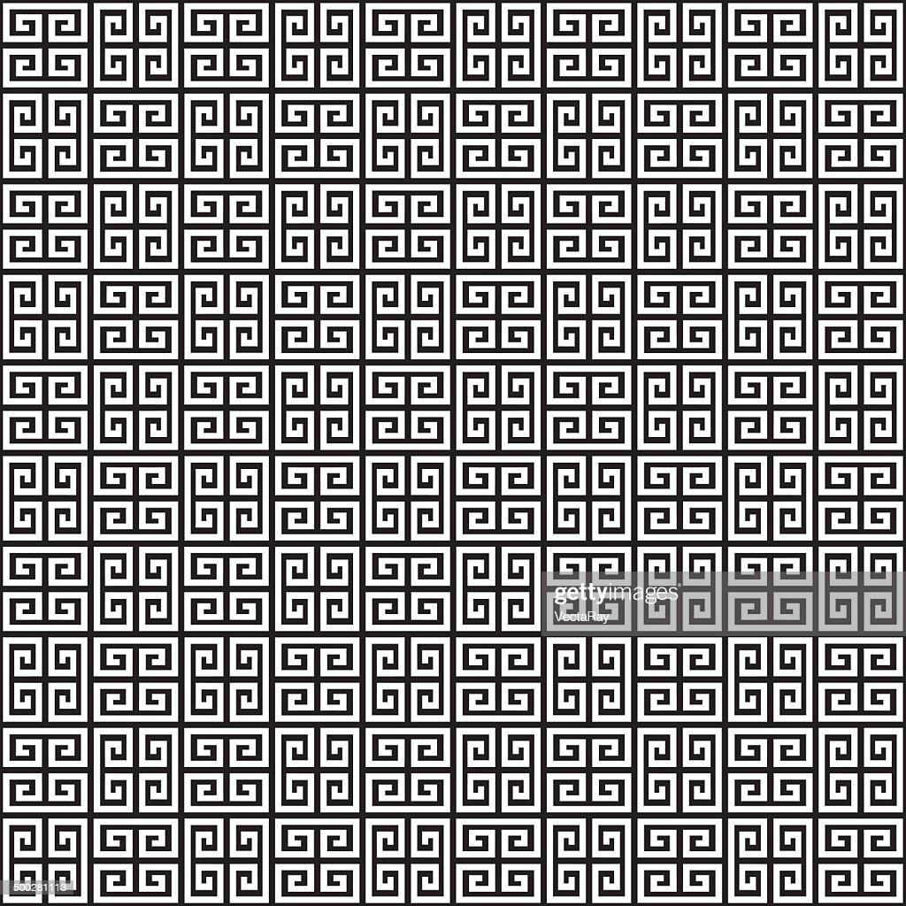 Seamless Greek Key Background Pattern Texture