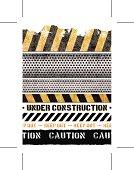 seamless grunge construction banners