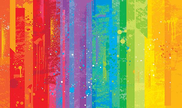 seamless grunge rainbow background - rainbow stock illustrations