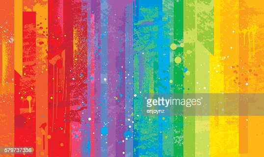 Seamless Grunge Rainbow Background High-Res Vector Graphic ...