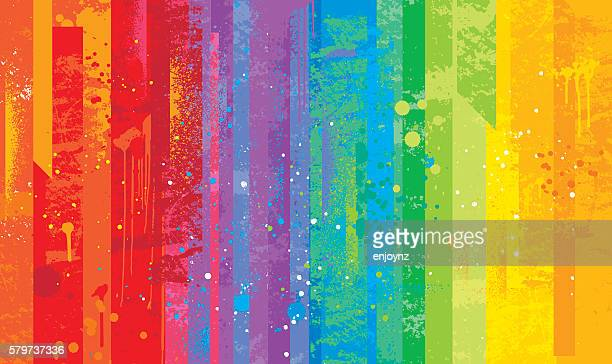 seamless grunge rainbow background - rainbow stock illustrations, clip art, cartoons, & icons