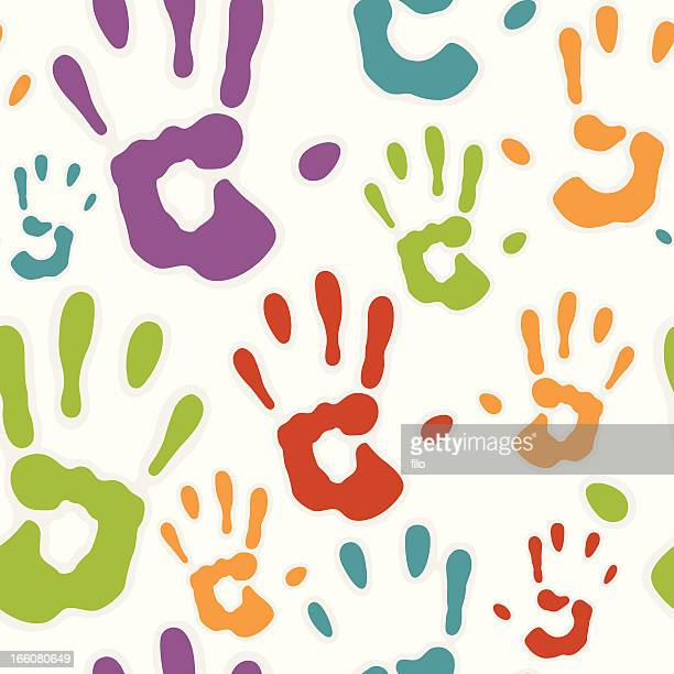 Seamless Hand prints